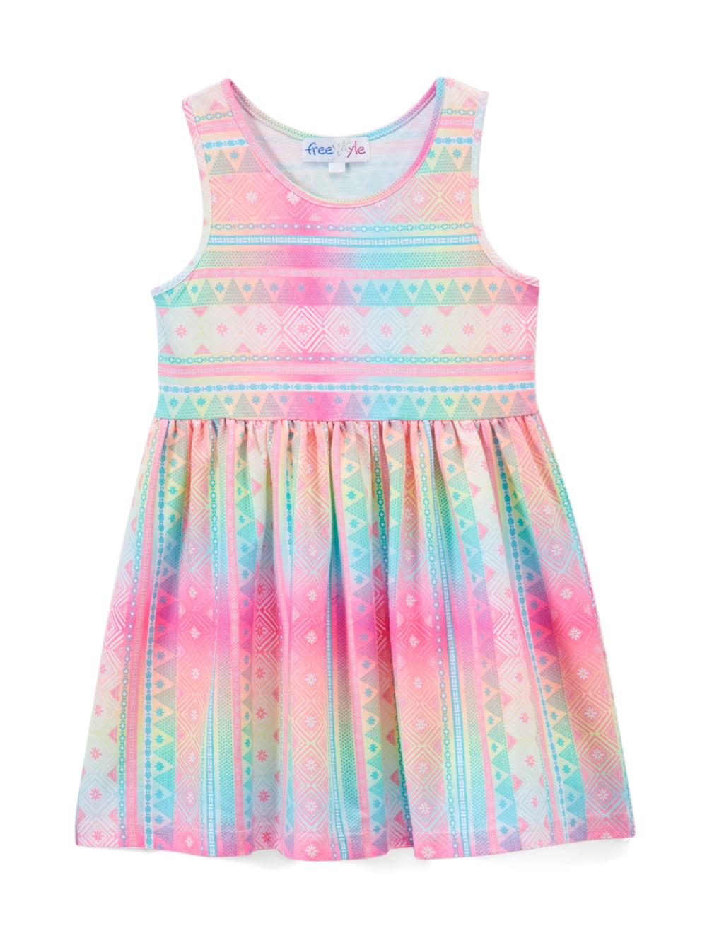 Printed Tank Dress (Toddler Girls)