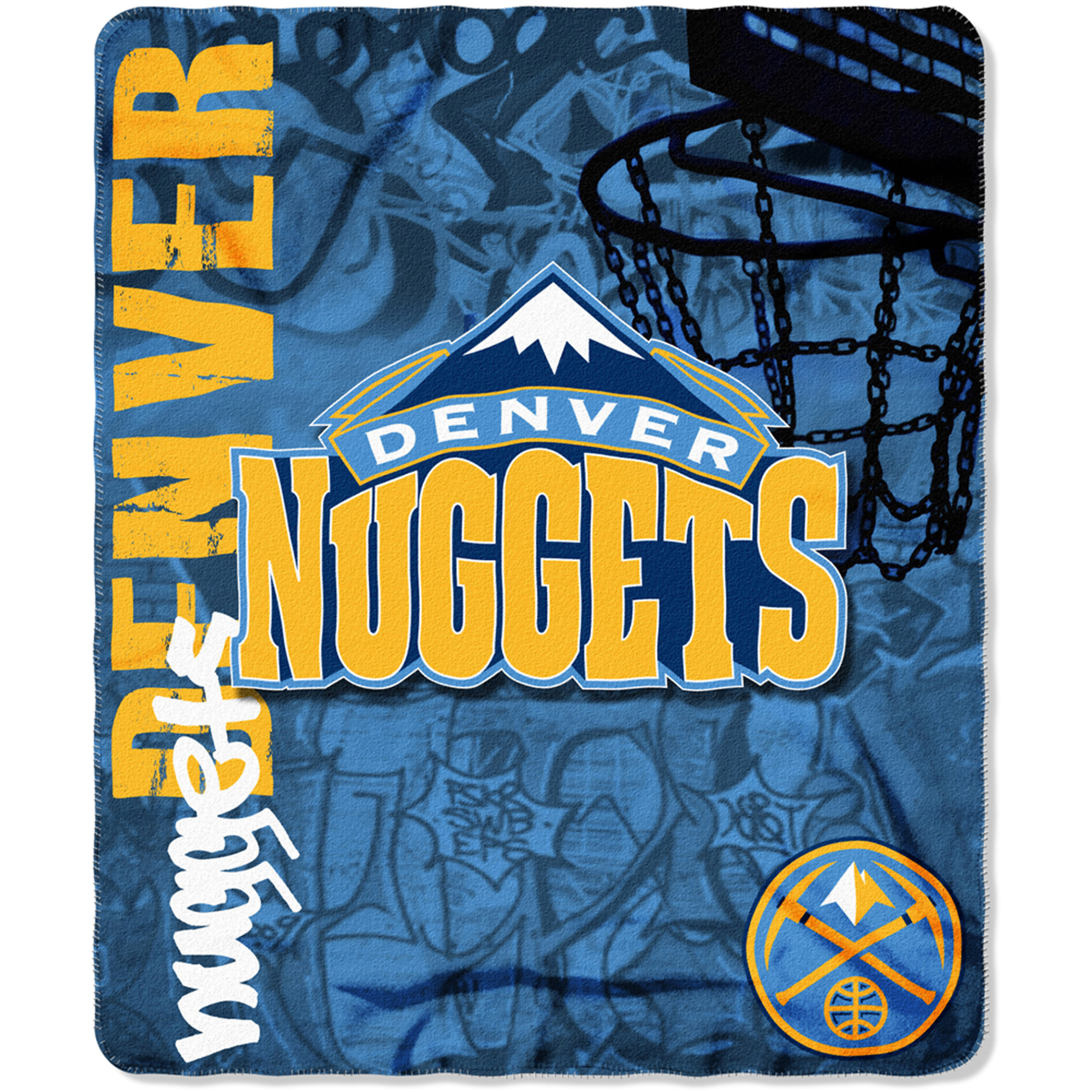 "NBA Denver Nuggets 50"" x 60"" Fleece Throw"