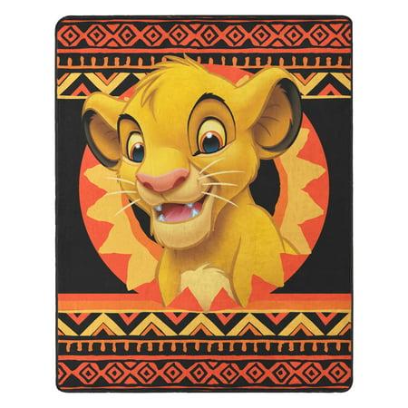 """The Lion King, """"Simba Batik"""" Silk Touch Throw Blanket, 40""""x 50"""" (The Lion King Throw Blanket)"""