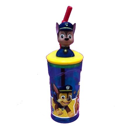 - Drink Bottle - Paw Patrol - Molded 3D Head - Chase