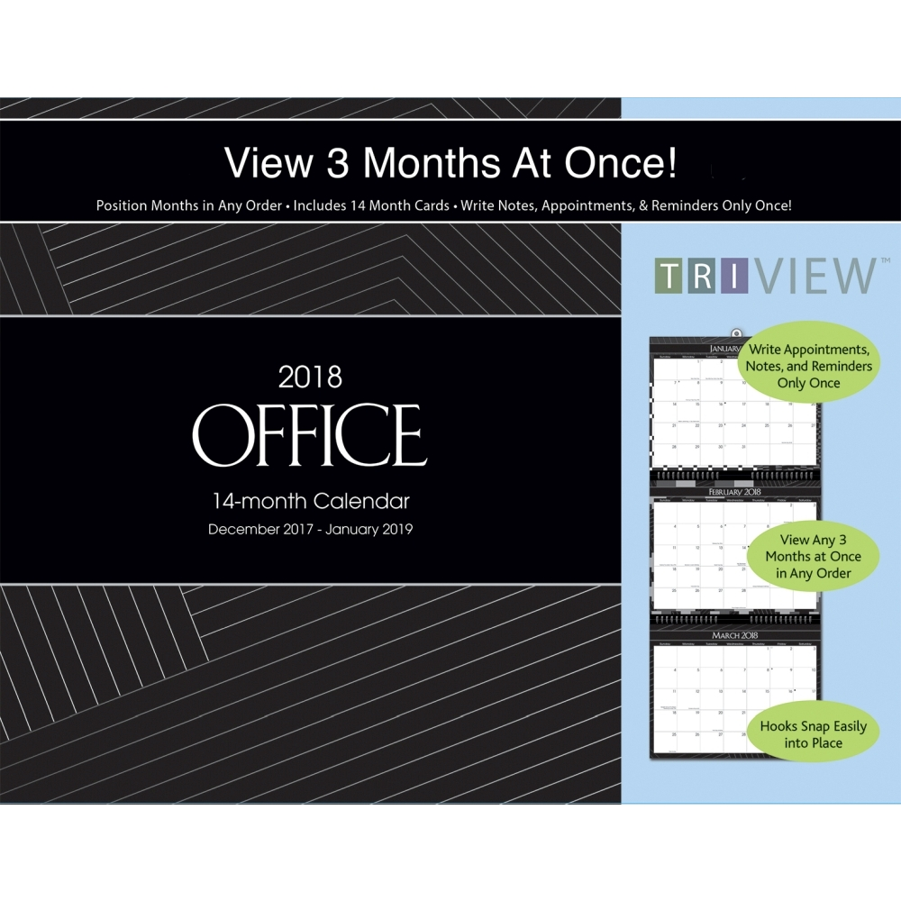 2018 Tri View Office Wall Calendar, Office Organizer by Avalanche Publishing by