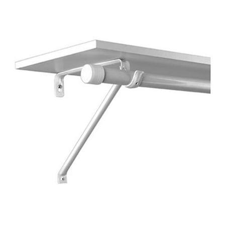 knape vogt mfg co wht rod shelf bracket. Black Bedroom Furniture Sets. Home Design Ideas