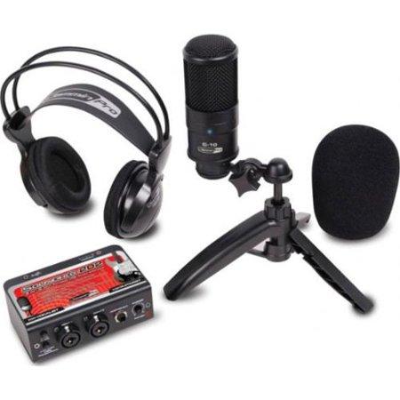 dj tech studiopack202 studio recording kit w usb audio interface condenser mic studio. Black Bedroom Furniture Sets. Home Design Ideas