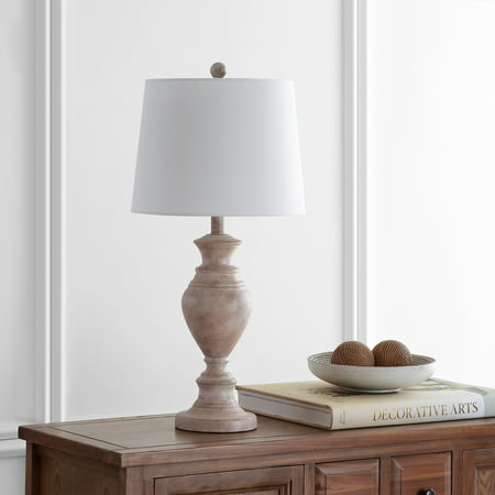 Safavieh Kyler Rustic 27.5 in. H Table Lamp, Brown Wood Finish ()