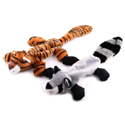 Max and Neo Animal Friends Crinkle Squeak Minimal Stuffing Dog Toys - 2 Pack - We Donate a Toy to a Dog Rescue for Every Toy Sold (Tiger/Raccoon)