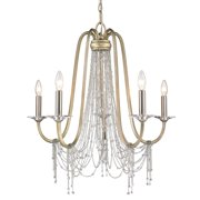 Golden Lighting Sancerre 1425-5 WG Chandelier - White Gold