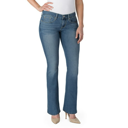 57dd8889 Signature by Levi Strauss & Co. - Women's Curvy Bootcut Jeans - Walmart.com