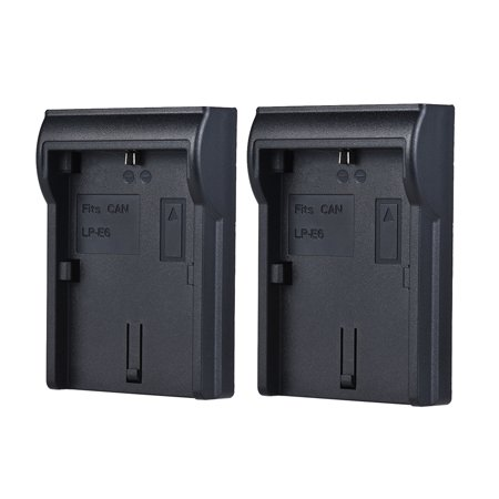 2pcs LP-E6 Battery Plate for Neweer Andoer Dual/Four Channel Battery Charger for Canon EOS 5DII 5DIII 5DS 5DSR 6D 7DII 60D 80D 70D