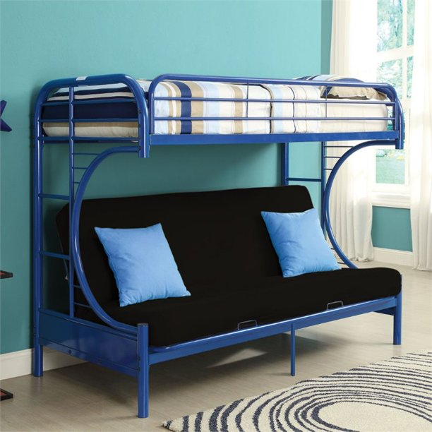 Kingfisher Lane Twin Over Full And Futon Bunk Bed In Navy Walmart Com