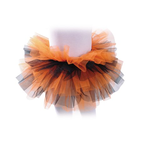 Orange Black Girls Ballet Dance Rave Halloween Tutu Petticoat-One Size - Rave Tutus