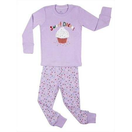 5b9cd584ee52 Elowel Pajamas - Elowel Little Girls Purple Cupcake