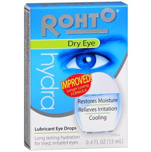Rohto Hydra Dry Eye Drops 0.40 oz (Pack of 4)