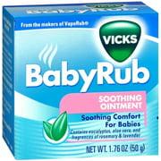 Vicks [VapoRub] BabyRub Soothing Ointment 1.76 oz (Pack of 6)