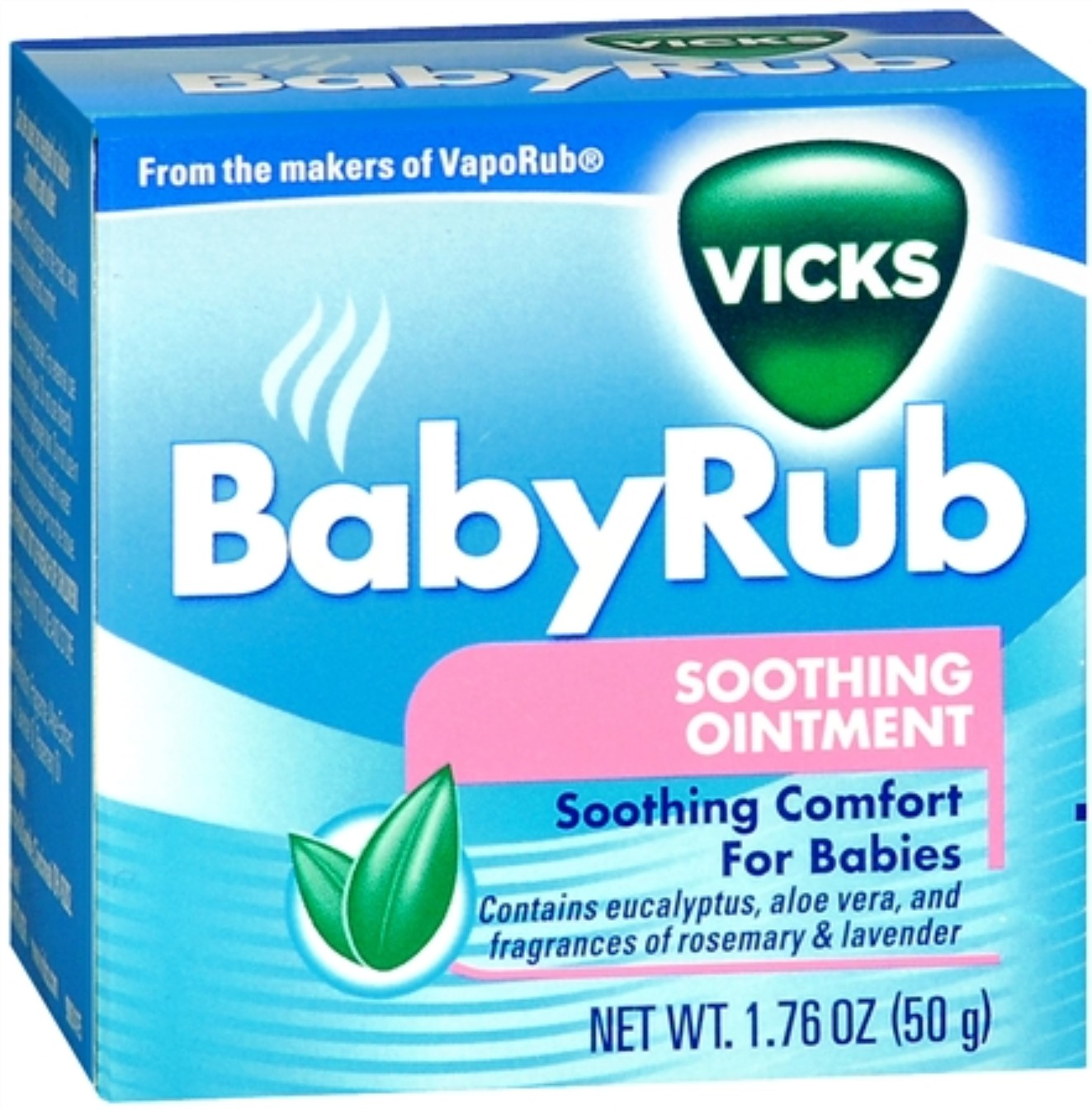 Vicks [VapoRub] BabyRub Soothing Ointment 1.76 oz (Pack of 6)