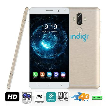 Indigi® GSM Unlocked 4G LTE 6.0in Android 7 Nougat Smartphone (2SIM + Octa-Core @ 1.3ghz + Fingerprint Scanner)