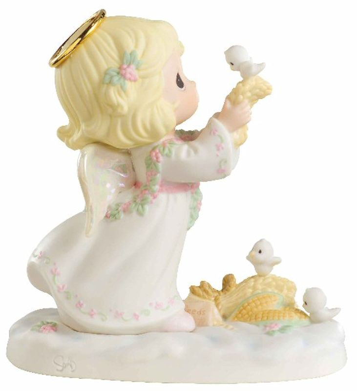 Precious Moments Christmas 610014 Christmas is Loving Angel Figurine by Precious Moments