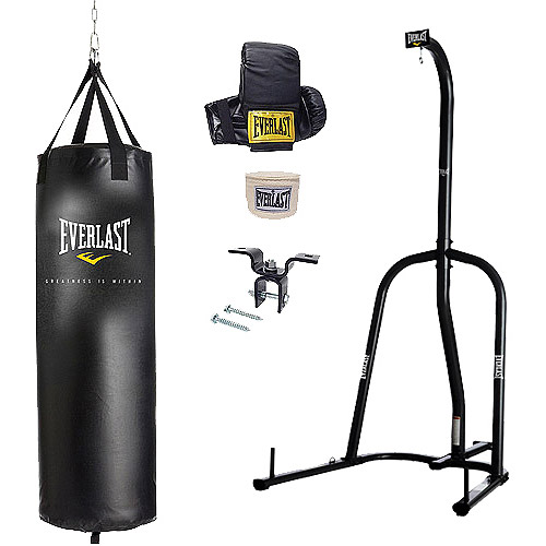 Everlast Single Station Heavy Bag Stand with a 70-lb. Heavy Bag Kit