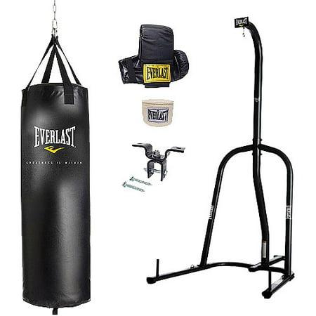Everlast Single Station Heavy Bag Stand with a 70-lb. Heavy Bag Kit Heavy Bag Racks