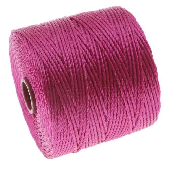 BeadSmith Super-Lon (S-Lon) Cord - Size 18 Twisted Nylon - Magenta / 77 Yard Spool