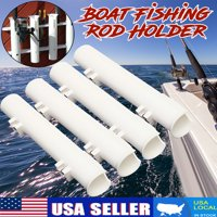 "8Pcs White Plastic 12"" Boat Fishing Rod Holders Boat Marine Tube Rod Holder"