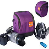 First2savvv high quality anti shock purple Nylon camcorder case bag for SONY DCR SR68E with card reader