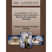 Coco (Ettore) V. U.S. U.S. Supreme Court Transcript of Record with Supporting Pleadings