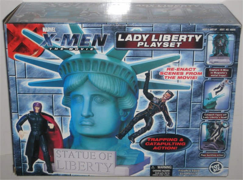 X-Men The Movie Lady Liberty Statue Playset Toy Biz (Catapult Action) by Toy Biz