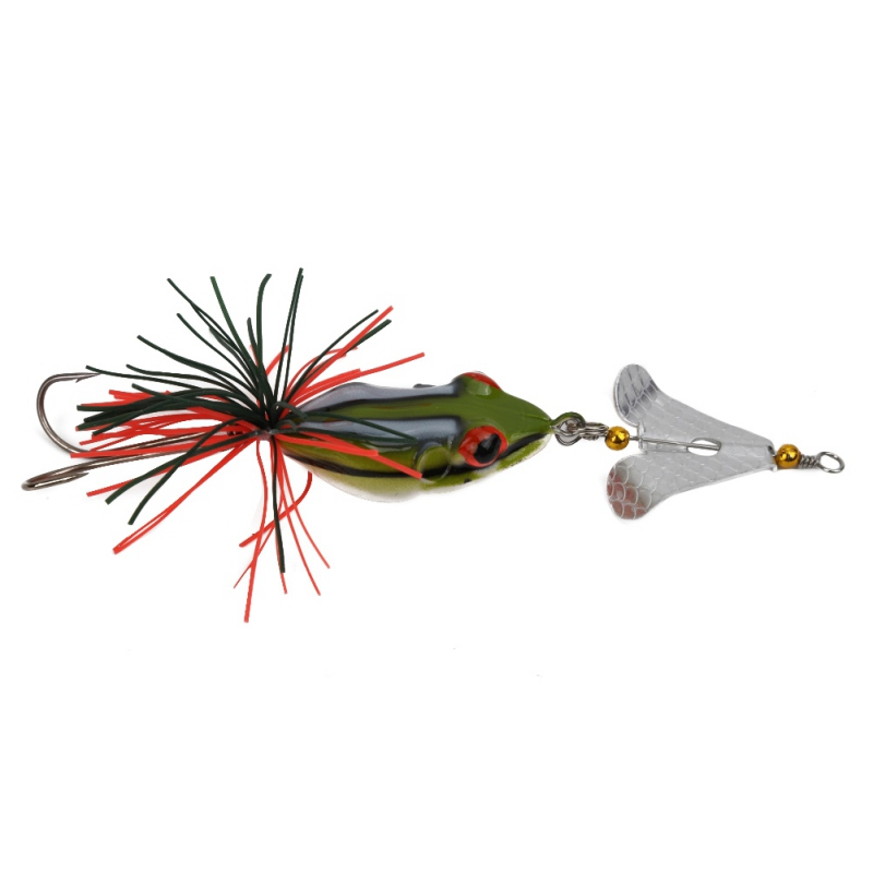 Details about  /Lifelike Fishing Tackle Artificial Bait Soft Bait Frog Fishing Lures Bass Hook