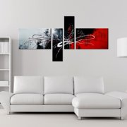 The Lighting Store 'Abstract 435' 4-piece Gallery-wrapped Hand Painted Canvas Art Set