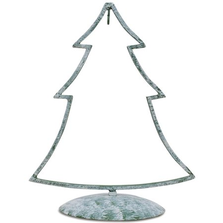 Green Tone Iron Metal Christmas Tree Ornament Stand 12 ...
