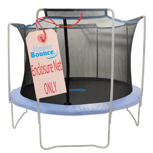 Trampoline Replacement Enclosure Safety Net, Fits For 15 FT. Round Frames, Using 4 Arches, with Sleeves on top -NET ONLY