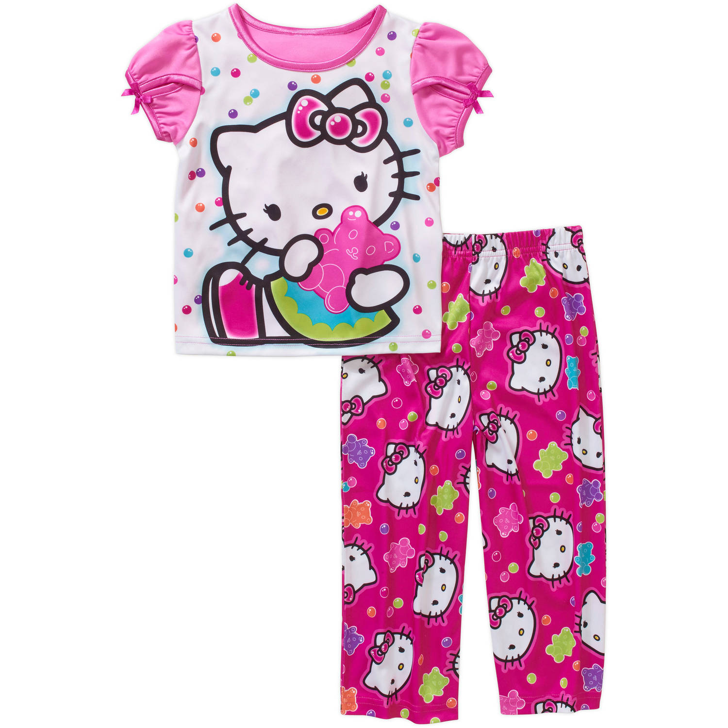 Hello Kitty Toddler Girl Short Sleeve Pajama Sleepwear Set