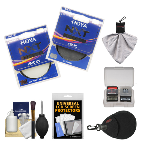 Hoya 58mm NXT (HMC UV + Circular Polarizer) Multi-Coated Glass Filters with Accessory Kit