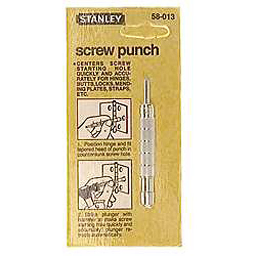 "Stanley Hand Tools 58-013 3/8"" x 3 1/6"" Self Centering Screw Hole Punch"