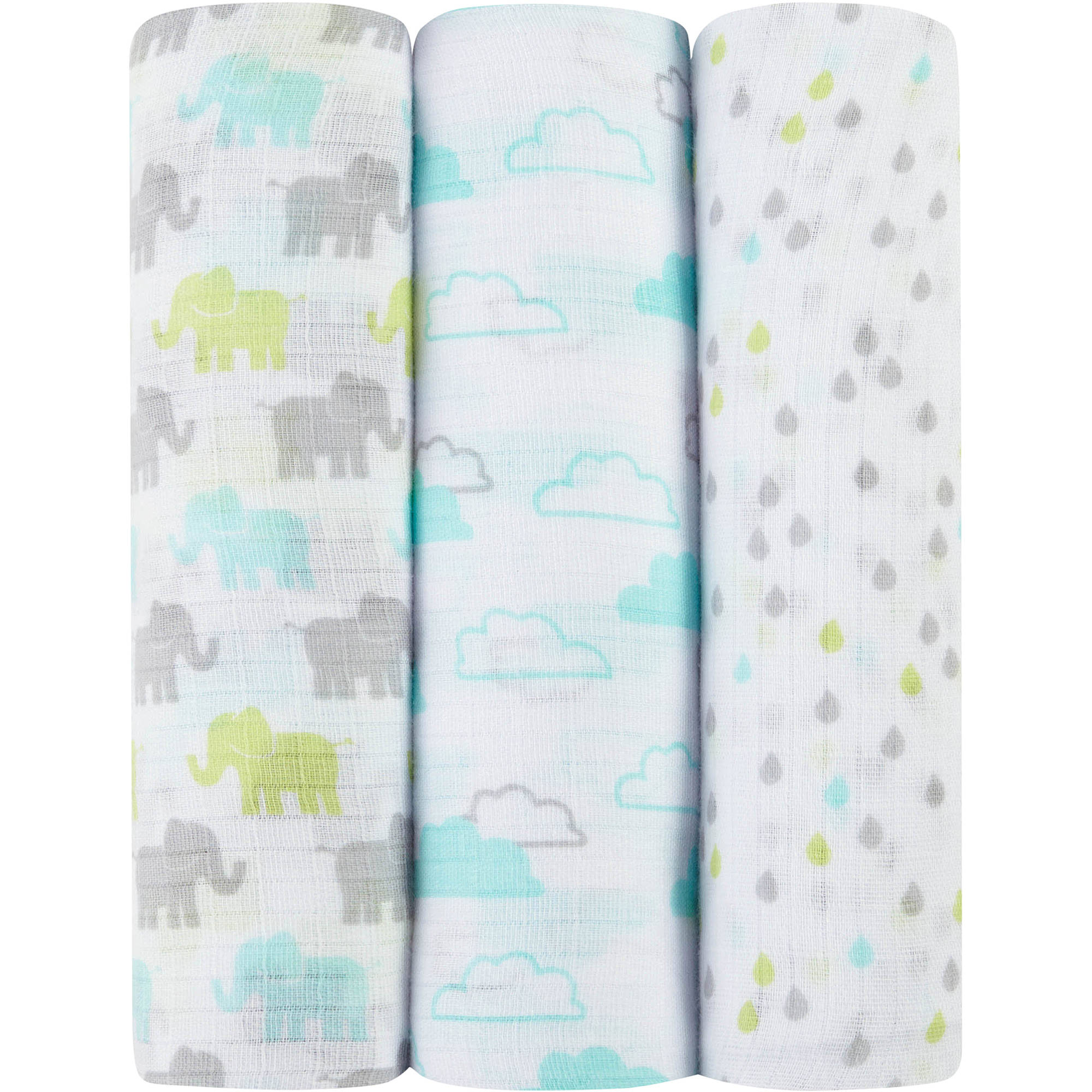 ideal baby by the makers of aden + anais Muslin Swaddles, 3pk, Tall Tale