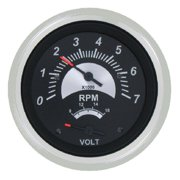 SeaStar Solutions Black Sterling 50-MPH Speedometer Head