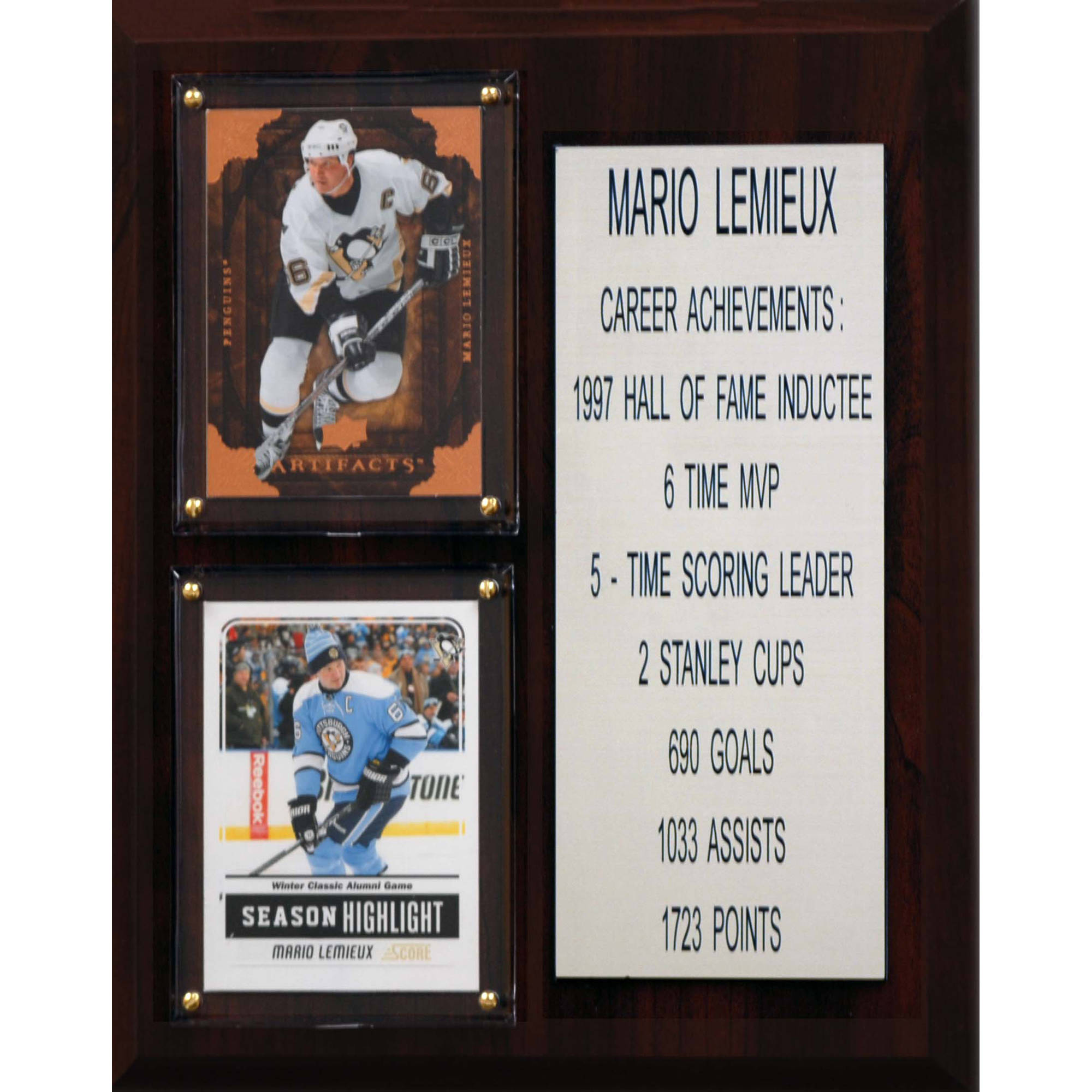 C&I Collectables NHL 8x10 Mario Lemieux Pittsburgh Penguins Career Stat Plaque