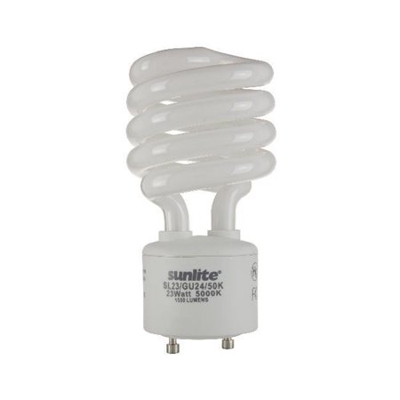 SUNLITE 23W 120V GU24 Super White 5000K CFL Mini Twist Light