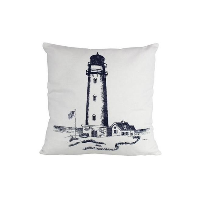Handcrafted Decor Pillow 106 Blue Lighthouse Decorative Throw Pillow, 16 in. by Handcrafted Decor