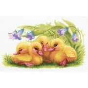 """Funny Ducklings Counted Cross Stitch Kit, 15.75"""" x 9.75"""", 14-Count"""