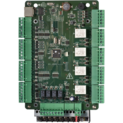 Visionis VS-AXESS-4D-ETL-PCB Four Door Access Control Panel controller Board TCP/IP Wiegand with Software Included, 10,000 Users