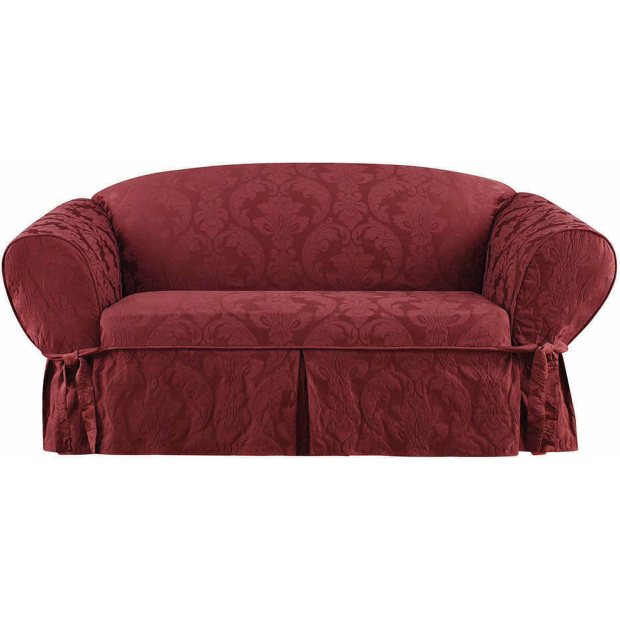 Sure Fit Matelasse Damask Loveseat Slipcover Walmart