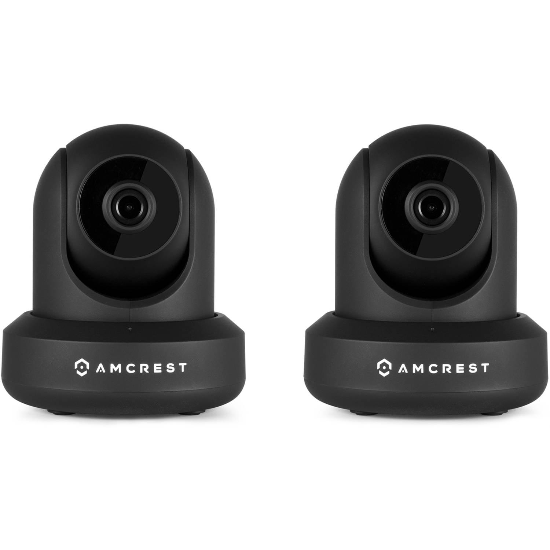 Amcrest IP2M-841B 1080p WiFi IP Pan/Tilt 2-Way Camera with Cloud Recording, Black, 2-Pack