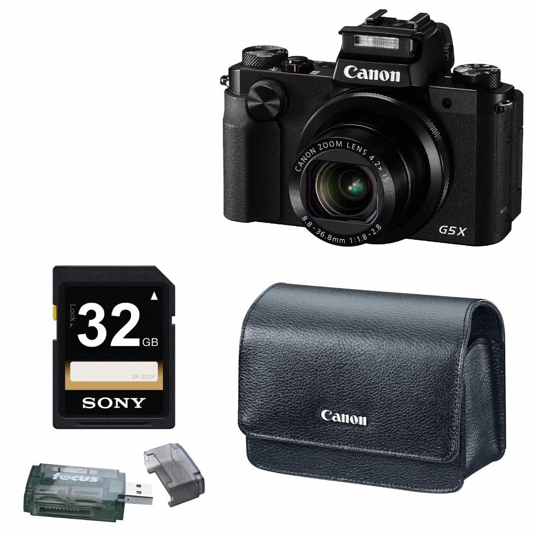 Canon Powershot G5 X 202mp Digital Camera Black With 32gb Sd G5x Kamera Pocket Accessory Bundle