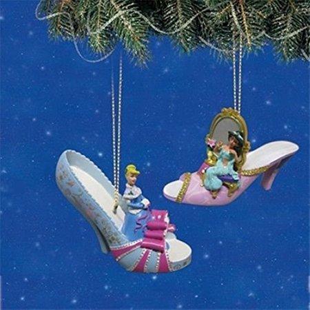 - Disney Once Upon a Slipper Ornament Set #8 Cinderella and Jasmine By Bradford Exchange