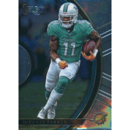 2017 Panini Select #42 DeVante Parker Miami Dolphins Rookie Football Card (Halloween Party Miami Beach 2017)