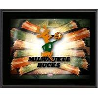 "Milwaukee Bucks 10.5"" x 13"" Sublimated Horizontal Hardwood Classics 1968-1993 Team Logo Plaque"