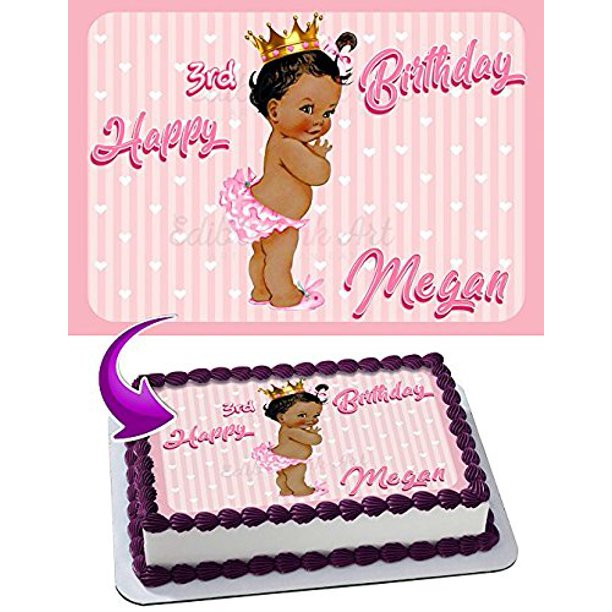 Tremendous Princess Baby Girl Cake Image Personalized Edible Image Cake Birthday Cards Printable Opercafe Filternl