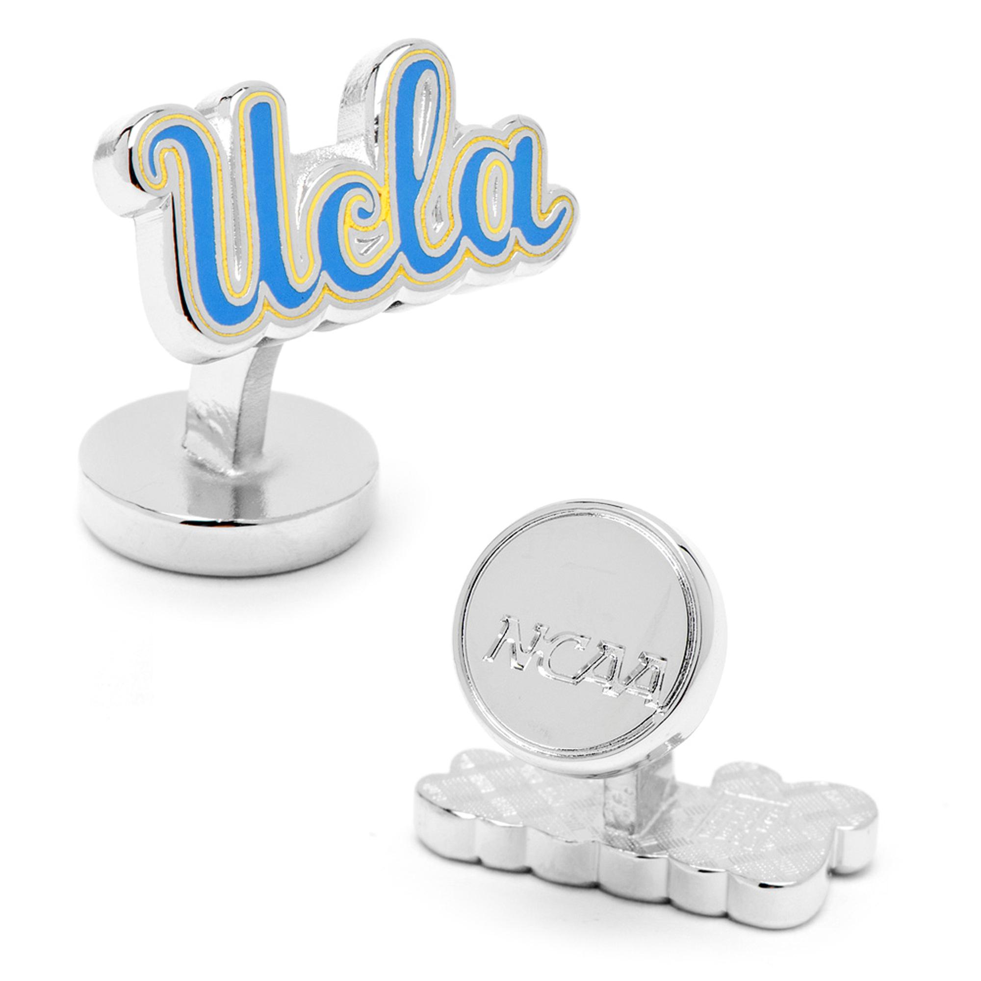 NCAA Mens Palladium UCLA Bruins Cufflinks w/ New Collectible Gift Box PD-UCLA-PP