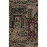Blazing Needles Tapestry Full Cafe de Paris Slip Cover (9.5 in. W: Fits mattresses 9-10 in. wide)
